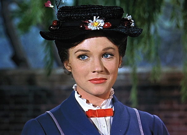 Julie Andrews en Mary Poppins