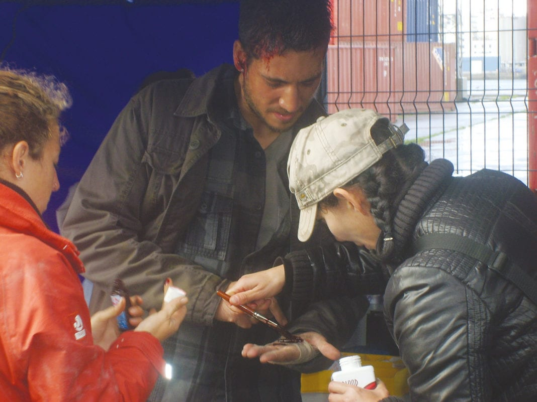 Alberto Amman en el rodaje de Invasor, de Daniel Calparsoro