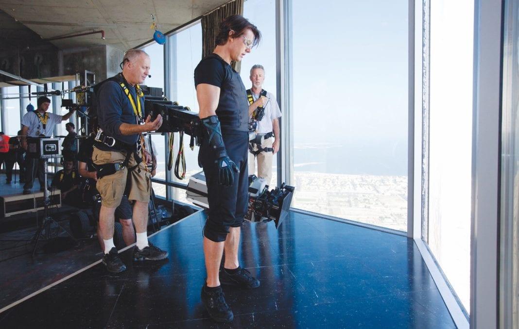 Tom Cruise en el rodaje de Mision Imposible IV