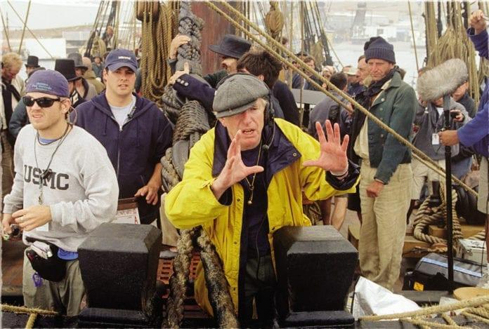 Peter Weir en el rodaje de Master and Commander
