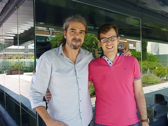 Fernando León de Aranoa con Fernando Hdez. Barral