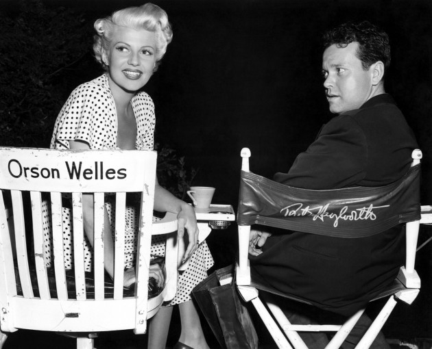 1947: Orson Welles and Rita Hayworth, his wife at the time, costarred in Columbia Pictures' The Lady from Shanghai. Welles was also the writer and director of the film.