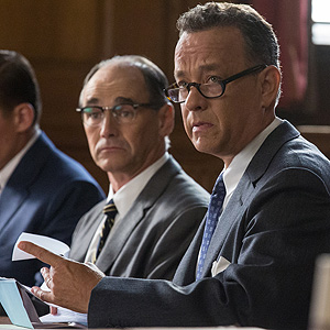Tom Hanks as James Donovan, Mark Rylance as Rudolf Abel and Billy Magnusson as Douglas Forrester in BRIDGE OF SPIES, a dramatic thriller directed by Steven Spielberg