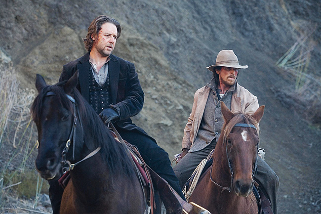 Russell Crowe y Christian Bale en El tren de las 3:10