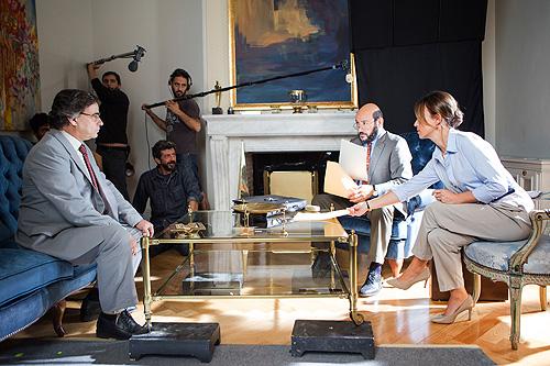 Alberto Rodríguez en el rodaje de El hombre de las mil caras