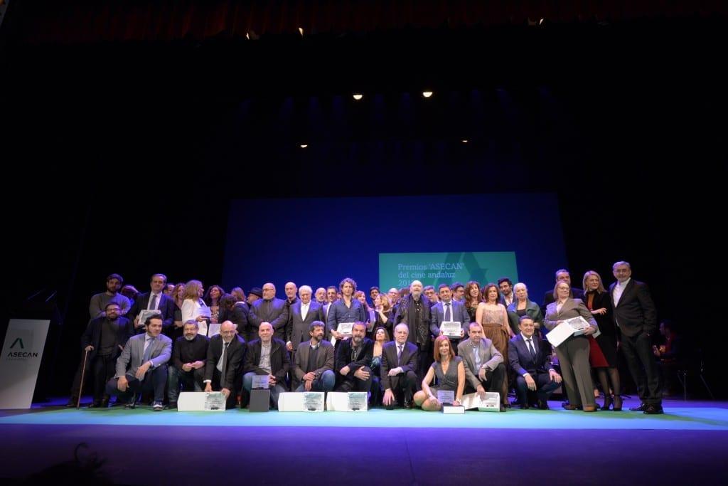 Foto familia Premios ASECAN del Cine Andaluz 2017. (c)AFPicture