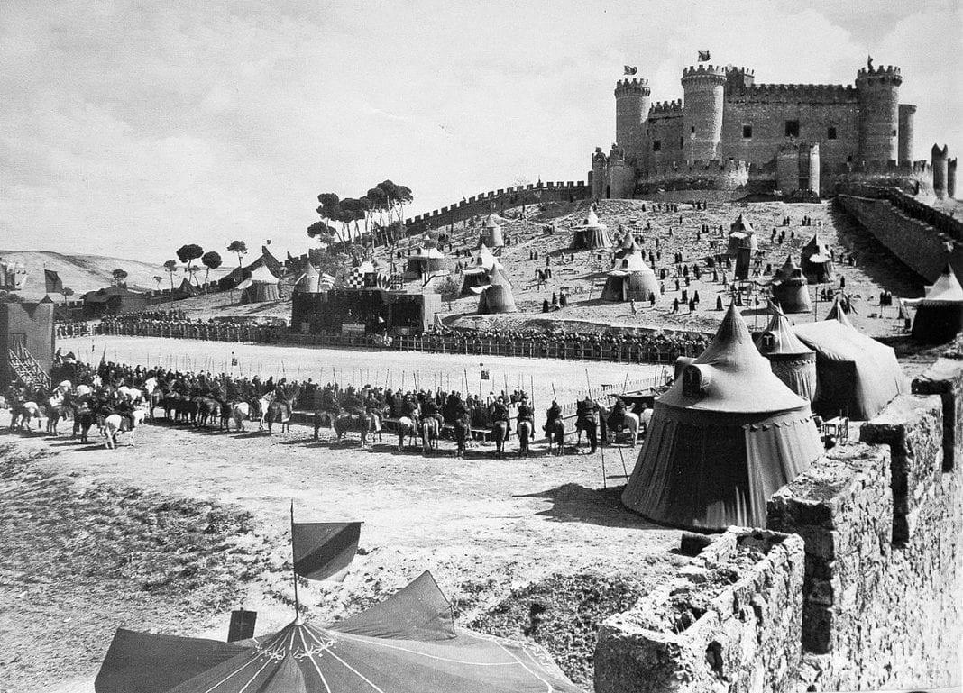 Rodaje de El Cid. Enrique Llovet
