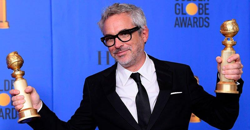 Alfonso Cuarón en los Globos de Oro 2019