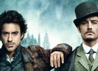 Robert Downey Jr y Jude Law en Sherlock Holmes