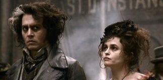 Johnny Depp y Helena Bohan Carter en Sweeney Todd