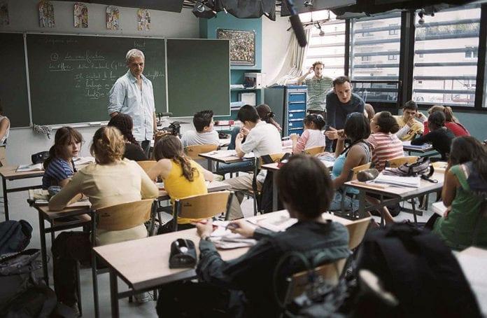 Rodaje de La clase, película de Laurent Cantet
