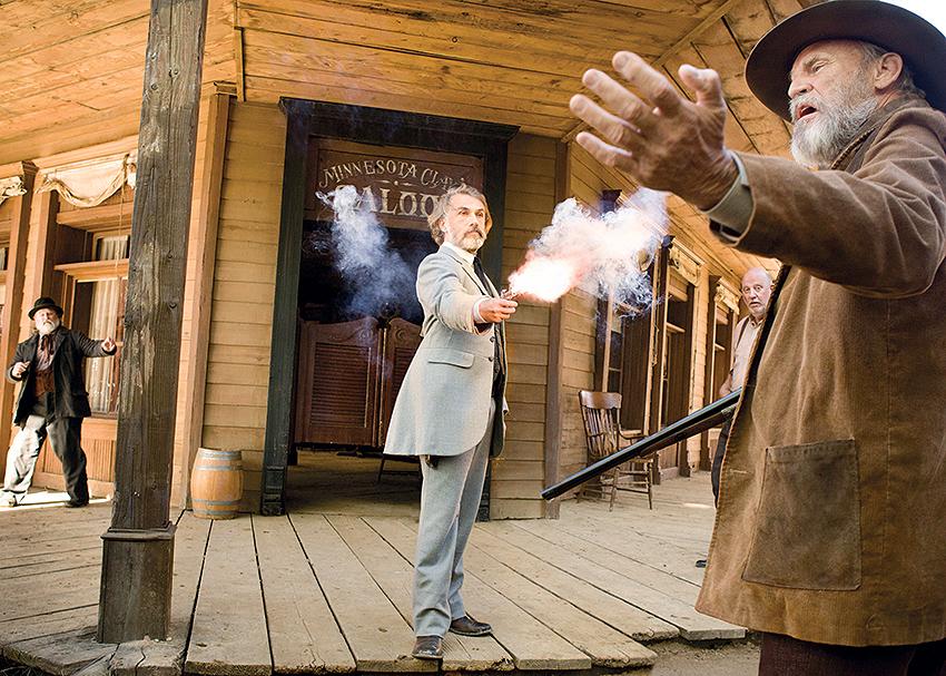 Christoph Waltz, en Django desencadenado, de Tarantino