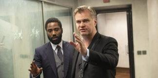 Christopher Nolan durante el rodaje de Tenet