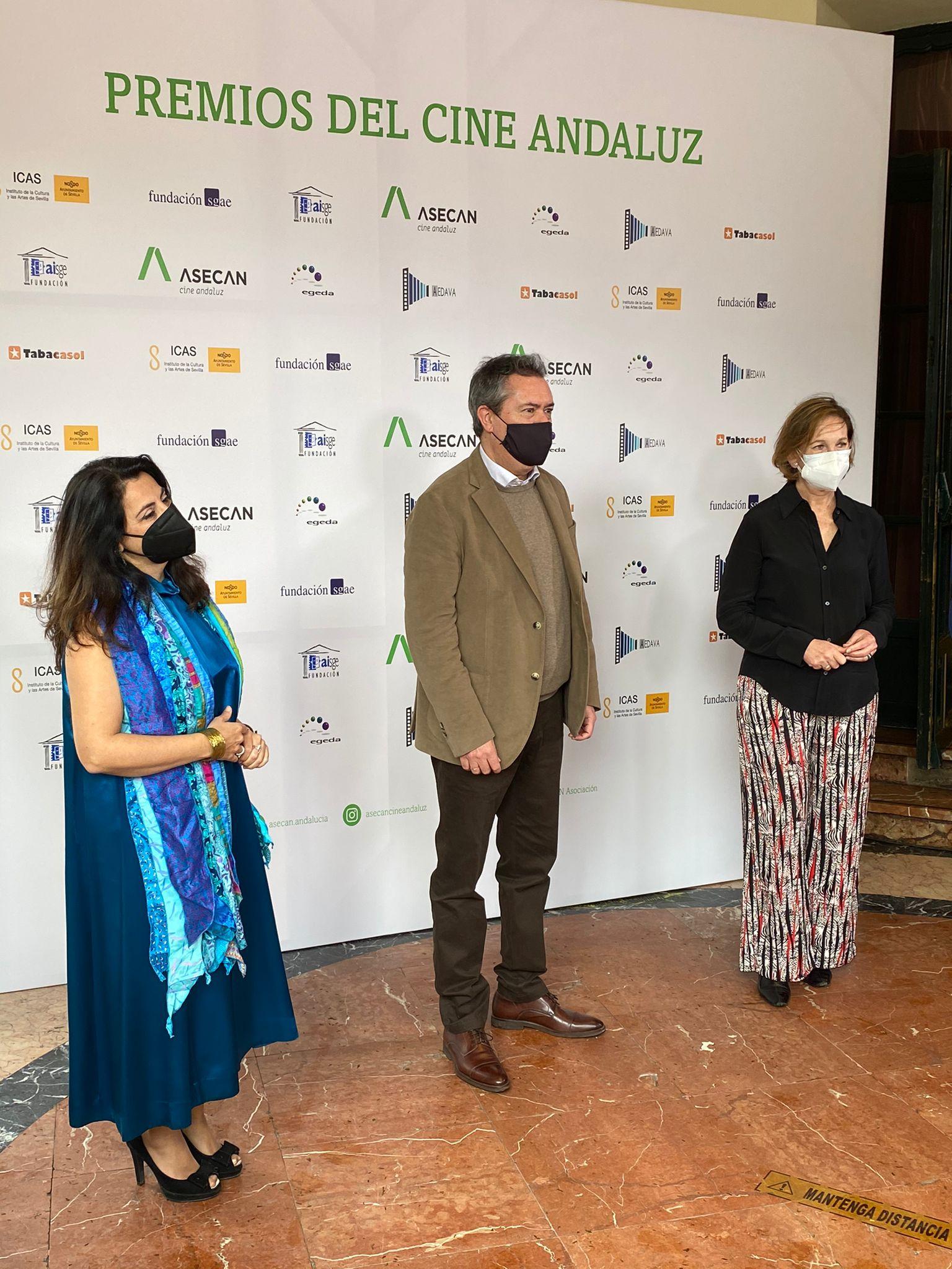 Juan Espadas, alcalde de Sevilla, a su llegada a los 33º Premios del Cine Andaluz