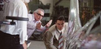 Martin Scorsese durante el rodaje de El aviador
