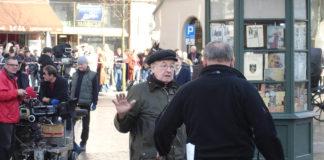Andrzej Wajda durante el rodaje de Katyn